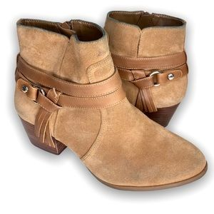 ALEX MARIE | Tan suede ankle boots